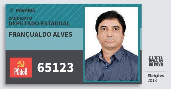 Santinho Françualdo Alves 65123 (PC do B) Deputado Estadual | Paraíba | Eleições 2018