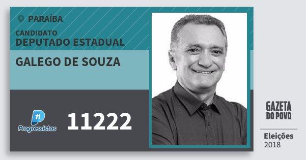 Santinho Galego de Souza 11222 (PP) Deputado Estadual | Paraíba | Eleições 2018