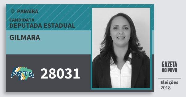 Santinho Gilmara 28031 (PRTB) Deputada Estadual | Paraíba | Eleições 2018