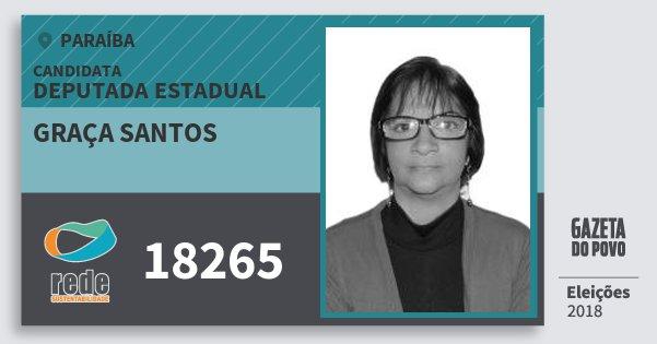 Santinho Graça Santos 18265 (REDE) Deputada Estadual | Paraíba | Eleições 2018