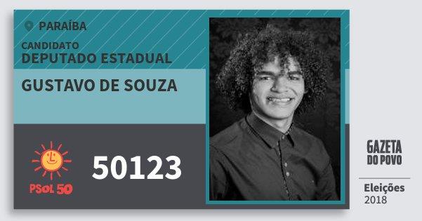 Santinho Gustavo de Souza 50123 (PSOL) Deputado Estadual | Paraíba | Eleições 2018