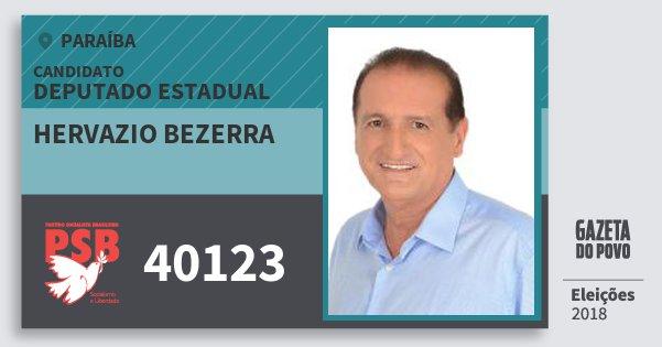 Santinho Hervazio Bezerra 40123 (PSB) Deputado Estadual | Paraíba | Eleições 2018