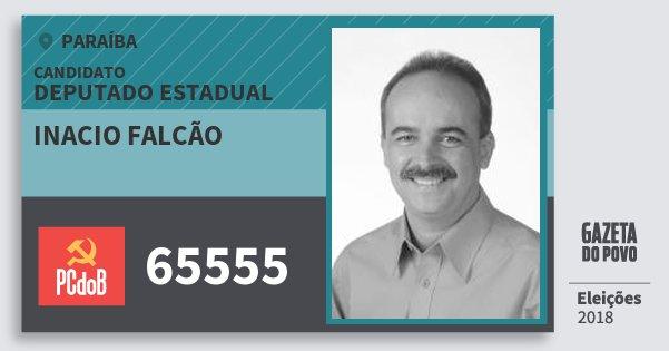 Santinho Inacio Falcão 65555 (PC do B) Deputado Estadual | Paraíba | Eleições 2018