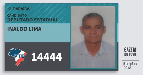Santinho Inaldo Lima 14444 (PTB) Deputado Estadual | Paraíba | Eleições 2018