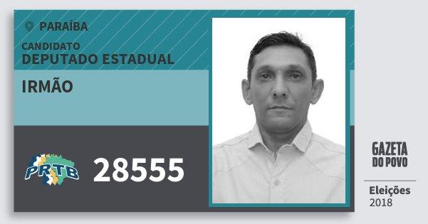 Santinho Irmão 28555 (PRTB) Deputado Estadual | Paraíba | Eleições 2018