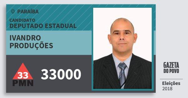 Santinho Ivandro Produções 33000 (PMN) Deputado Estadual | Paraíba | Eleições 2018