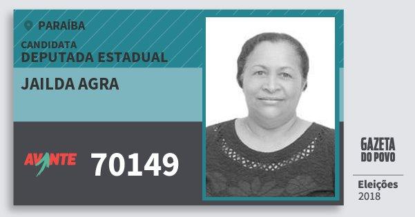 Santinho Jailda Agra 70149 (AVANTE) Deputada Estadual | Paraíba | Eleições 2018
