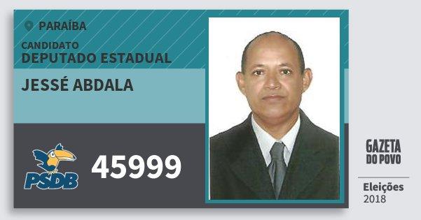 Santinho Jessé Abdala 45999 (PSDB) Deputado Estadual | Paraíba | Eleições 2018