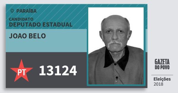 Santinho Joao Belo 13124 (PT) Deputado Estadual | Paraíba | Eleições 2018
