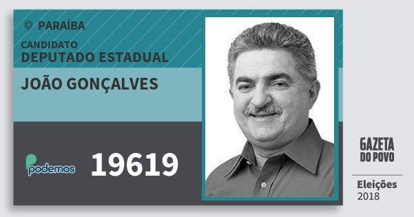 Santinho João Gonçalves 19619 (PODE) Deputado Estadual   Paraíba   Eleições 2018