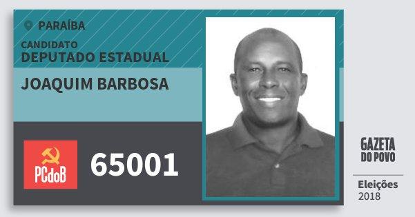 Santinho Joaquim Barbosa 65001 (PC do B) Deputado Estadual | Paraíba | Eleições 2018