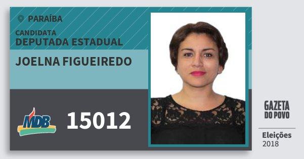 Santinho Joelna Figueiredo 15012 (MDB) Deputada Estadual | Paraíba | Eleições 2018
