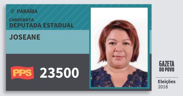 Santinho Joseane 23500 (PPS) Deputada Estadual | Paraíba | Eleições 2018