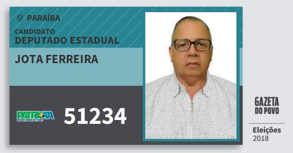 Santinho Jota Ferreira 51234 (PATRI) Deputado Estadual | Paraíba | Eleições 2018