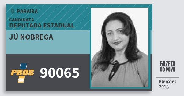 Santinho Jú Nobrega 90065 (PROS) Deputada Estadual | Paraíba | Eleições 2018