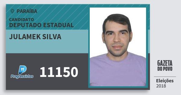 Santinho Julamek Silva 11150 (PP) Deputado Estadual | Paraíba | Eleições 2018