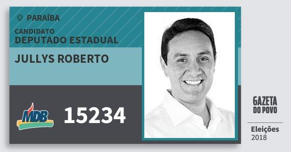 Santinho Jullys Roberto 15234 (MDB) Deputado Estadual | Paraíba | Eleições 2018