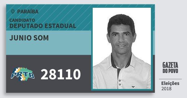 Santinho Junio Som 28110 (PRTB) Deputado Estadual | Paraíba | Eleições 2018