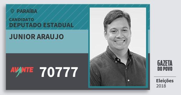 Santinho Junior Araujo 70777 (AVANTE) Deputado Estadual | Paraíba | Eleições 2018