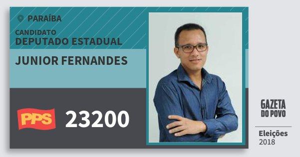 Santinho Junior Fernandes 23200 (PPS) Deputado Estadual | Paraíba | Eleições 2018