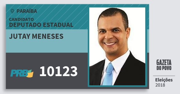 Santinho Jutay Meneses 10123 (PRB) Deputado Estadual   Paraíba   Eleições 2018