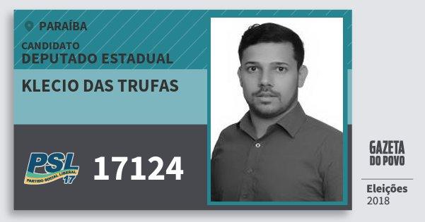 Santinho Klecio das Trufas 17124 (PSL) Deputado Estadual | Paraíba | Eleições 2018