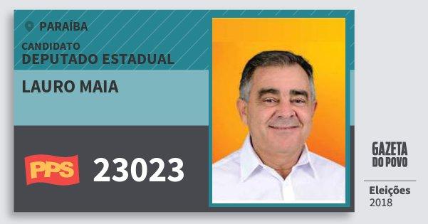 Santinho Lauro Maia 23023 (PPS) Deputado Estadual   Paraíba   Eleições 2018