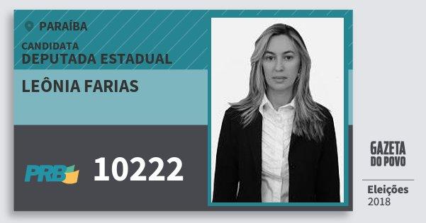 Santinho Leônia Farias 10222 (PRB) Deputada Estadual | Paraíba | Eleições 2018