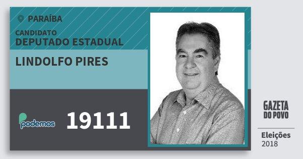 Santinho Lindolfo Pires 19111 (PODE) Deputado Estadual | Paraíba | Eleições 2018