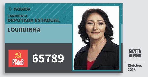 Santinho Lourdinha 65789 (PC do B) Deputada Estadual | Paraíba | Eleições 2018