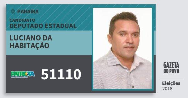 Santinho Luciano da Habitação 51110 (PATRI) Deputado Estadual | Paraíba | Eleições 2018