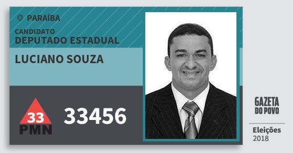 Santinho Luciano Souza 33456 (PMN) Deputado Estadual | Paraíba | Eleições 2018