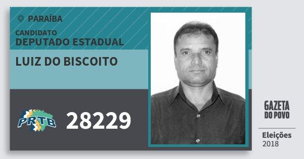 Santinho Luiz do Biscoito 28229 (PRTB) Deputado Estadual | Paraíba | Eleições 2018