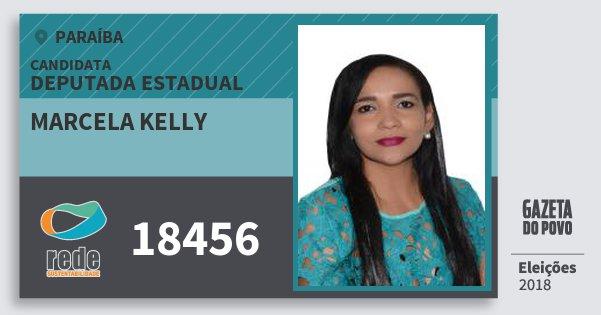 Santinho Marcela Kelly 18456 (REDE) Deputada Estadual | Paraíba | Eleições 2018