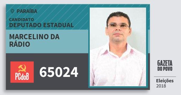 Santinho Marcelino da Rádio 65024 (PC do B) Deputado Estadual | Paraíba | Eleições 2018
