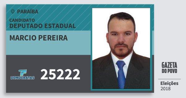 Santinho Marcio Pereira 25222 (DEM) Deputado Estadual | Paraíba | Eleições 2018