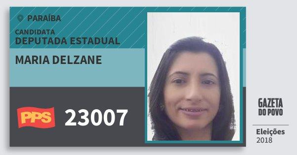 Santinho Maria Delzane 23007 (PPS) Deputada Estadual | Paraíba | Eleições 2018