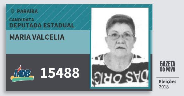 Santinho Maria Valcelia 15488 (MDB) Deputada Estadual | Paraíba | Eleições 2018