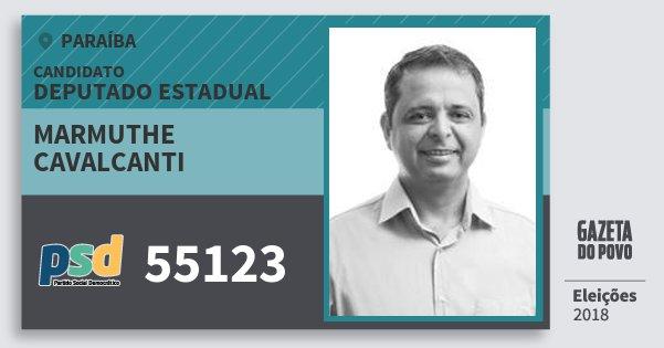 Santinho Marmuthe Cavalcanti 55123 (PSD) Deputado Estadual | Paraíba | Eleições 2018