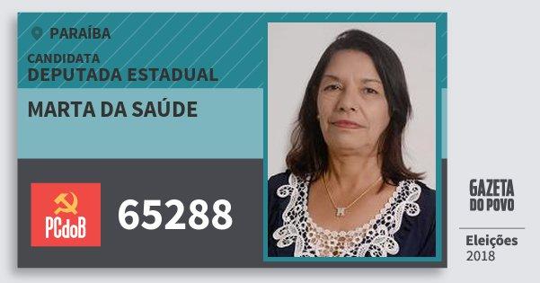 Santinho Marta da Saúde 65288 (PC do B) Deputada Estadual | Paraíba | Eleições 2018