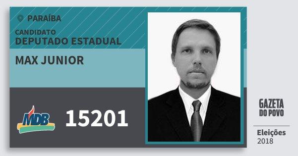 Santinho Max Junior 15201 (MDB) Deputado Estadual | Paraíba | Eleições 2018