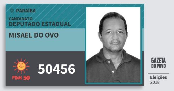 Santinho Misael do Ovo 50456 (PSOL) Deputado Estadual | Paraíba | Eleições 2018
