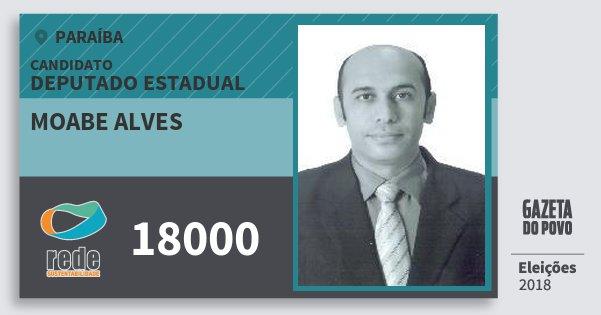 Santinho Moabe Alves 18000 (REDE) Deputado Estadual | Paraíba | Eleições 2018