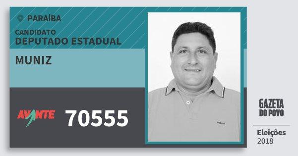 Santinho Muniz 70555 (AVANTE) Deputado Estadual | Paraíba | Eleições 2018