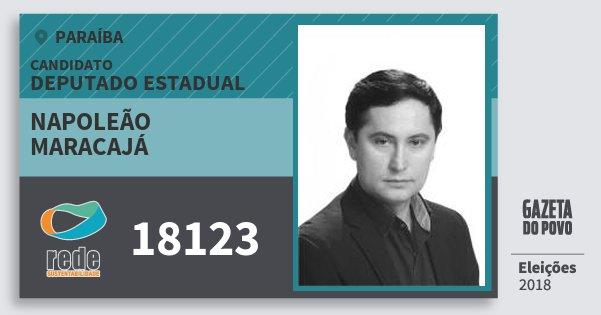 Santinho Napoleão Maracajá 18123 (REDE) Deputado Estadual   Paraíba   Eleições 2018