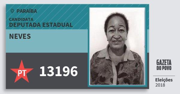 Santinho Neves 13196 (PT) Deputada Estadual | Paraíba | Eleições 2018