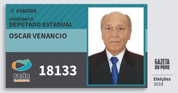 Santinho Oscar Venancio 18133 (REDE) Deputado Estadual | Paraíba | Eleições 2018