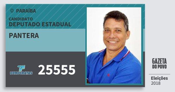 Santinho Pantera 25555 (DEM) Deputado Estadual | Paraíba | Eleições 2018
