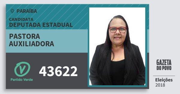 Santinho Pastora Auxiliadora 43622 (PV) Deputada Estadual | Paraíba | Eleições 2018