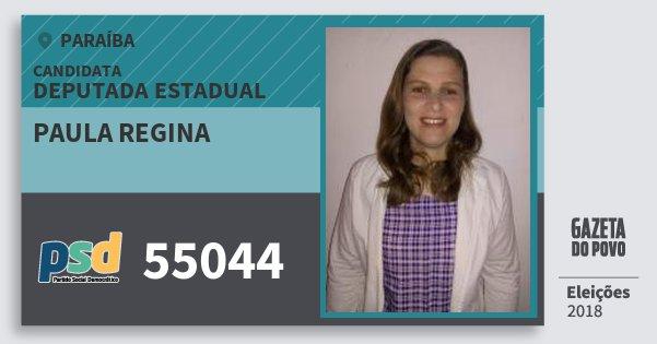Santinho Paula Regina 55044 (PSD) Deputada Estadual | Paraíba | Eleições 2018